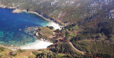 Playa A Barda en Ponteceso