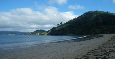 Playa A Basteira en Cariño