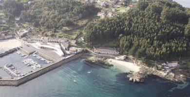 Playa A Roiba en Bueu