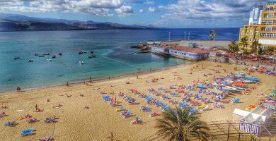 Playa Alcavaneras en Las Palmas de Gran Canaria