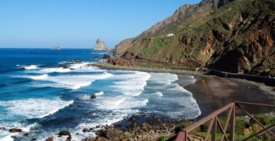 Playa Almaciga en Santa Cruz de Tenerife