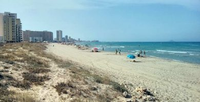 Playa Amoladeras en Cartagena