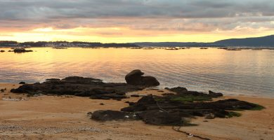Playa As Casiñas en Vilanova de Arousa