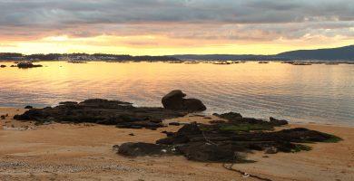 Playa As Patiñas en Vilanova de Arousa