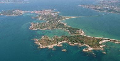 Playa As Ruvás en A Illa de Arousa