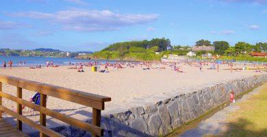 Playa Bastiagueiro en Oleiros