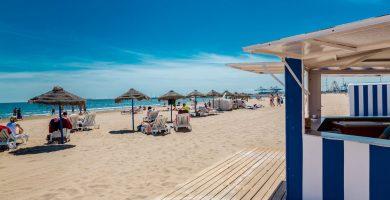 Playa Cabanyal en Valencia