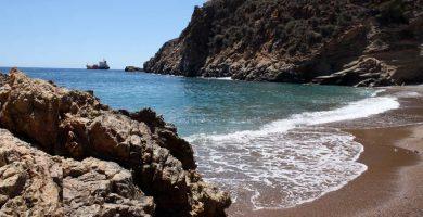 Playa Cala Bolete Grande en Cartagena