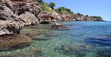 Playa Cala Bon Capó en L'Ametlla de Mar