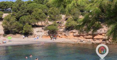 Playa Cala Calafató en L'Ametlla de Mar