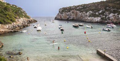 Playa Cala Canutells en Maó