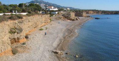 Playa Cala de les Llanetes en Vinaròs