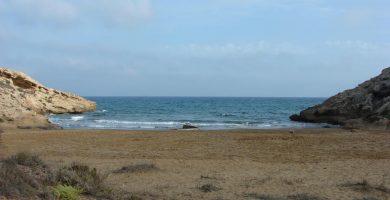 Playa Cala de los Dentones en Cartagena