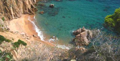 Playa Cala de L'Ull de Vidre en Tossa de Mar