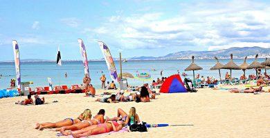 Playa Cala de Santa María en Palma de Mallorca