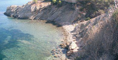 Playa Cala del Amerador en L'Alfàs del Pi