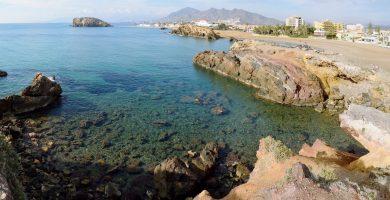Playa Cala del Contrabando en Cartagena