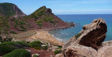 Playa Cala del Pilar en Ciutadella de Menorca