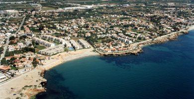 Playa Cala del Saldonar en Vinaròs