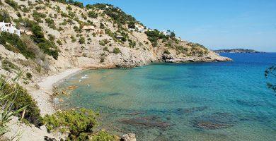 Playa Cala d'Es Cubells en Sant Josep de sa Talaia
