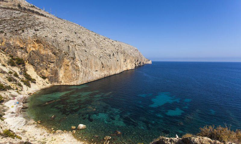 Playa Cala El Collao en Calp
