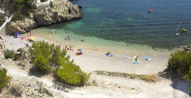 Playa Cala Fonoll en Andratx