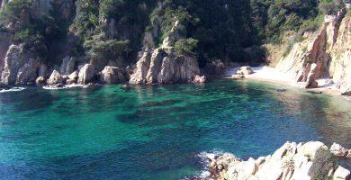 Playa Cala Forcanera en Blanes