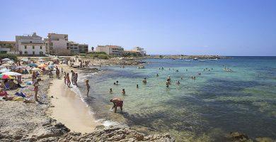 Playa Cala Galiota en Ses Salines