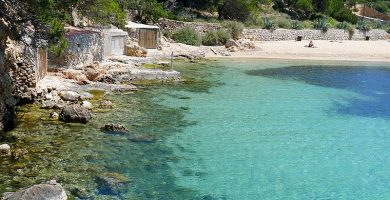 Playa Cala Gració en Sant Antoni de Portmany