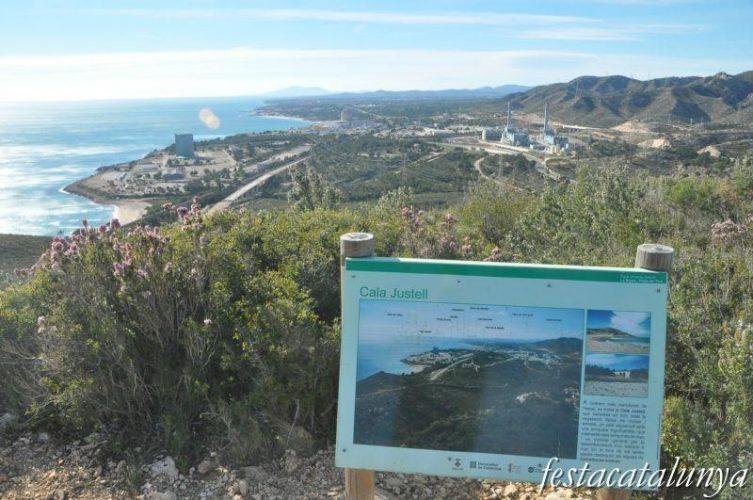 Playa Cala Justell en Vandellòs i l'Hospitalet de l'Infant