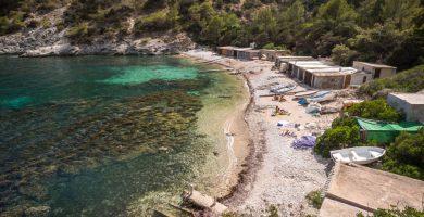Playa Cala Llentrisca en Sant Josep de sa Talaia
