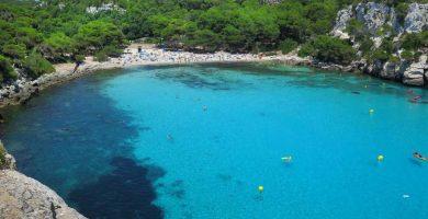 Playa Cala Macarella en Ciutadella de Menorca