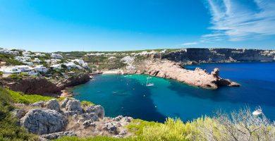 Playa Cala Morell en Ciutadella de Menorca