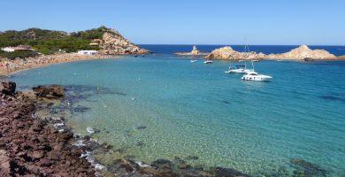 Playa Cala Pregonda en Es Mercadal