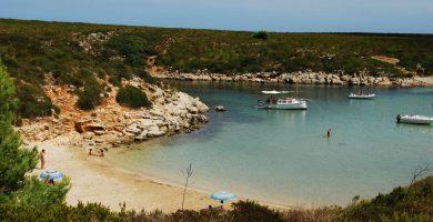Playa Cala Pudent en Es Mercadal