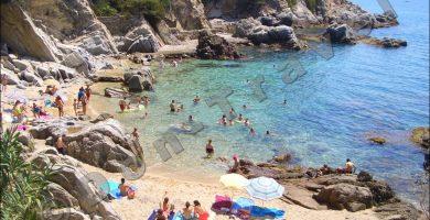 Playa Cala Rajols en Lloret de Mar
