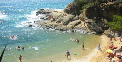 Playa Cala Rovira en Castell-Platja d'Aro
