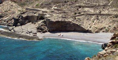 Playa Cala Salitrona en Cartagena