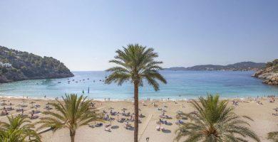 Playa Cala San Vicente en Sant Joan de Labritja