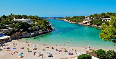 Playa Cala Santandria en Ciutadella de Menorca