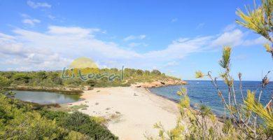 Playa Cala Santes Creus en L'Ametlla de Mar