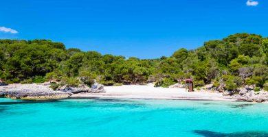 Playa Cala Turqueta en Ciutadella de Menorca