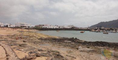 Playa Caleta del Mariscadero en Tinajo