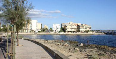 Playa Caló de son Caios en Palma de Mallorca