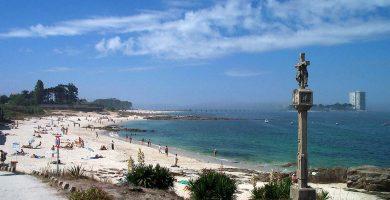 Playa Calo del Faro en Vigo