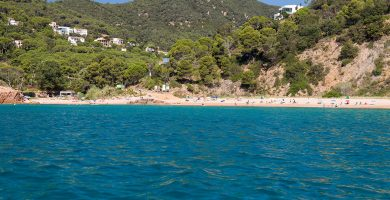 Playa Can Dell en Sant Feliu de Guíxols