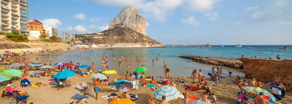Playa Cantal Roig en Calp