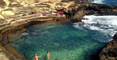 Playa Charco del Palo (Piscina) en Haría