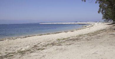 Playa Con da Mina en Vilanova de Arousa