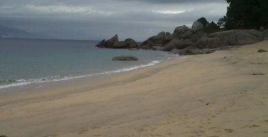 Playa Cornide en Bueu
